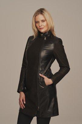 Dámský kožený kabát