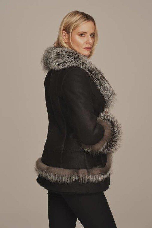 Dámská zimní bunda s pravou kožešinou - Kožich dámský