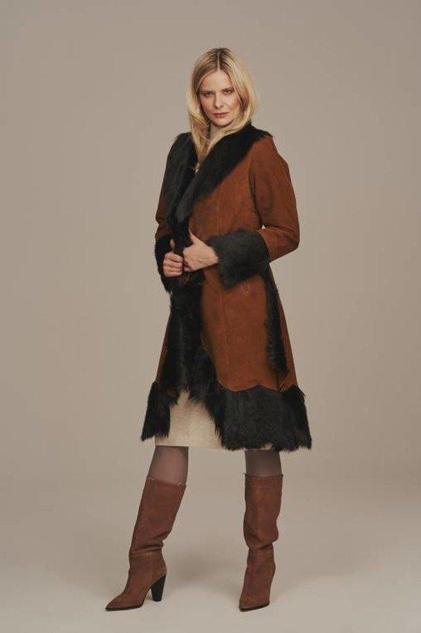 Kožešinový kabát dámský - Zimní kožich