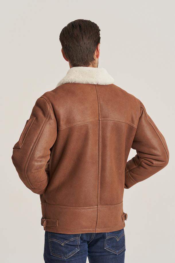 Pánský dubeňák - Kožená bunda pilotka