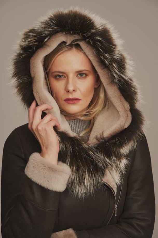 Ladies sheepskin jacket