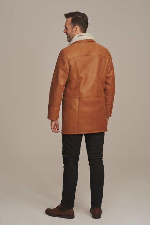 Mens 3/4 length sheepskin coat
