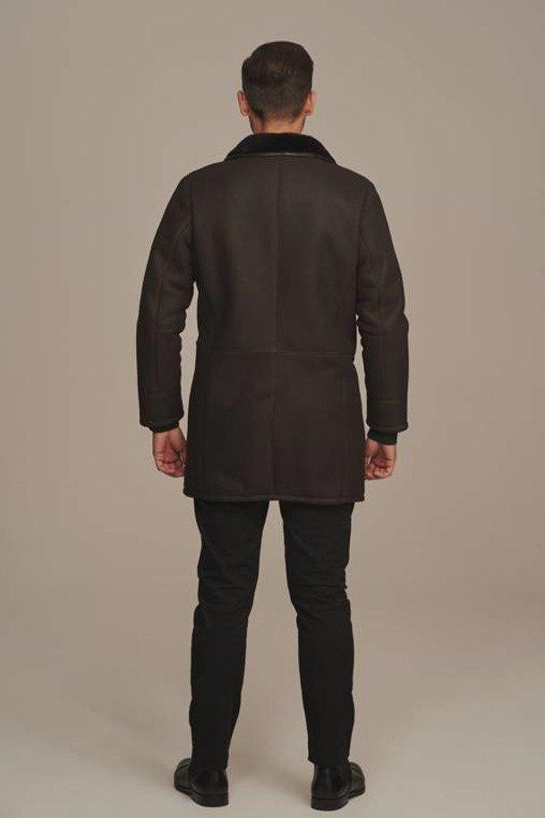 Men's long sheepskin coat