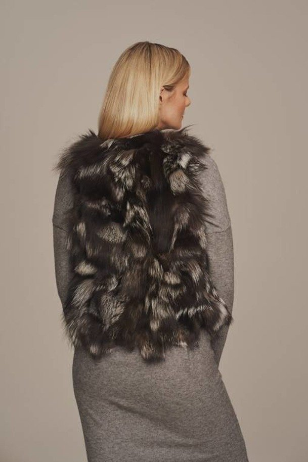 Women's fox fur vest