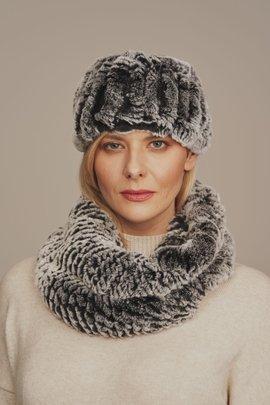 Opaska na głowę zimowa futrzana damska