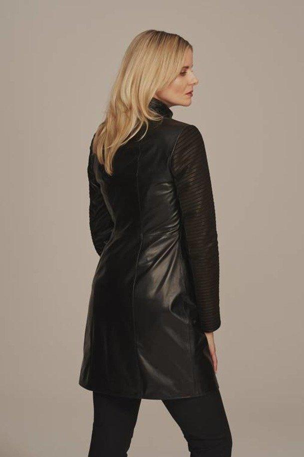 Płaszcz damski skórzany naturalny