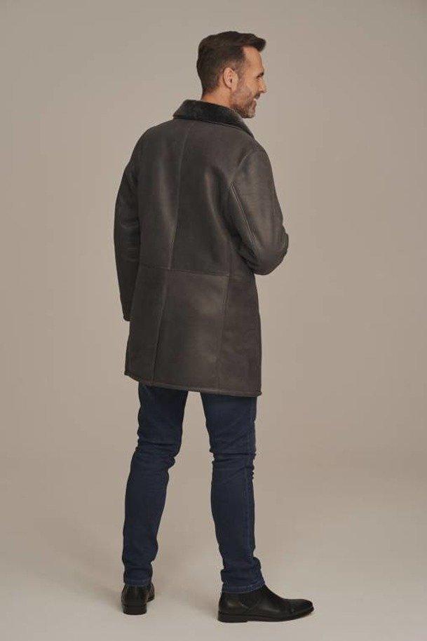 Płaszcz męski zimowy - Kożuch męski długi
