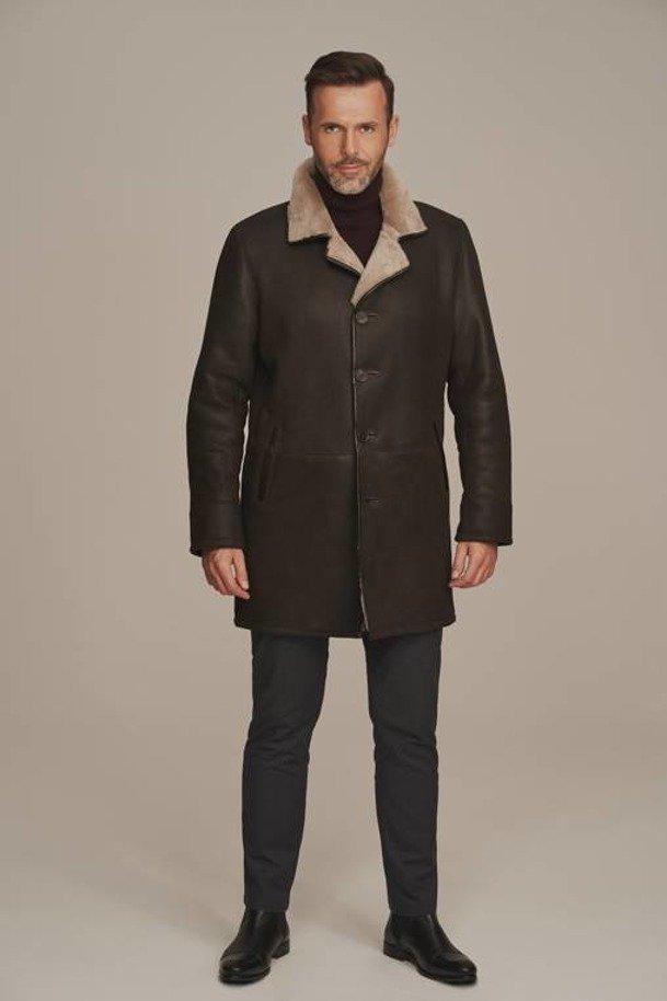 Płaszcz zimowy męski - kożuch męski klasyczny