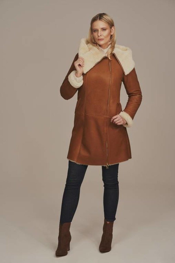 Dámsky kabát s kapucňou