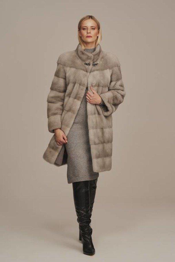 Dámsky kabát z pravej norky