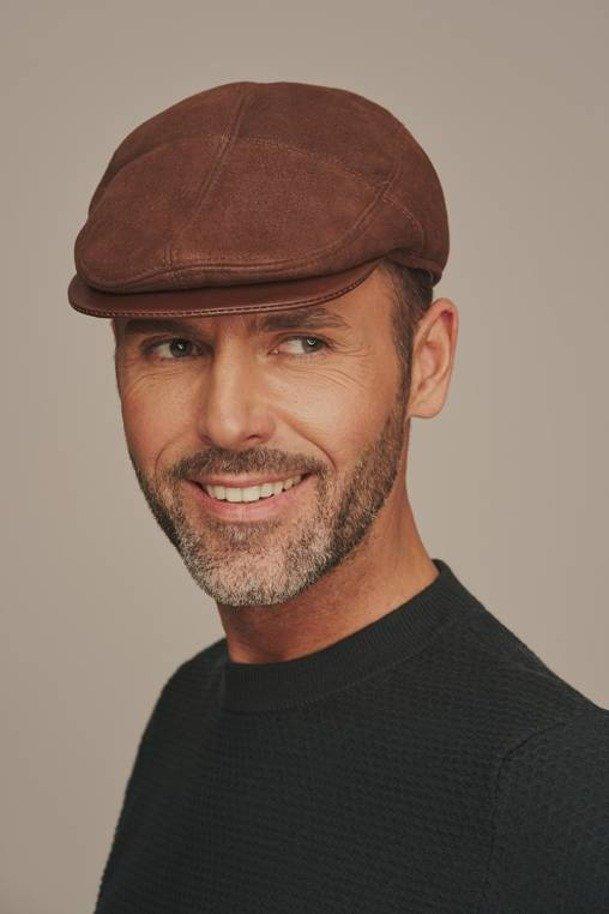 Pánska zimná kožená čiapka