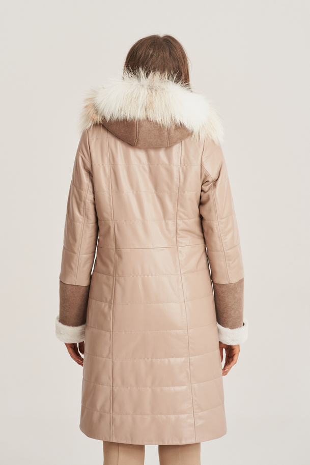 Zimná kožená bunda dámska
